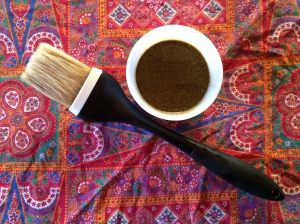 thyme garlic chicken spice sauce and baster